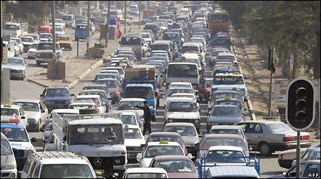 Baghdad traffic jam