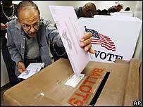 Votante en California.