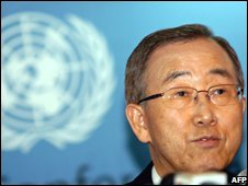 Ban Ki-moon, file pic from 2 November 2008