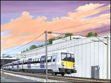 Artist impression of Crossrail train