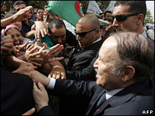 Abdelaziz Bouteflika in Tlemcen, 12 October 2008