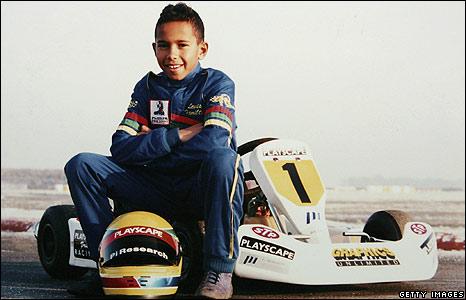 Lewis Hamilton aged 10