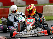 Youngsters on karts