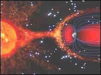 Gráfica de la magnetósfera (Ruth Bamford)