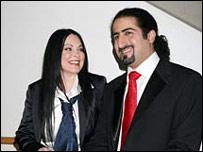 Омар Усама бин Ладен с женой Заиной