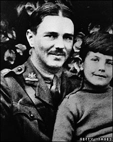 Wilfred Owen with unknown boy