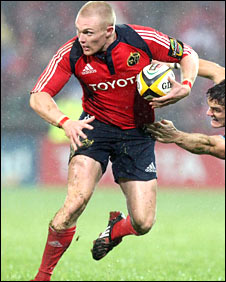Munster utility back Keith Earls