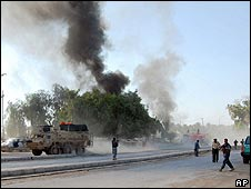 Aftermath of bombing on Monday in Diyala province