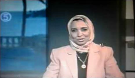 Ghada El Tawil presenting her programme