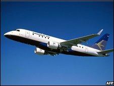 Embraer plane, file pic