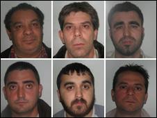 top: Edward Facuna, Ali Arslan, Valmir Gjetia. Bottom: Martin Doci, Mesut Arslan, Roman Pacan