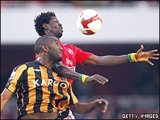 Kamil Zayatte and Emmanuel Adebayor (top)