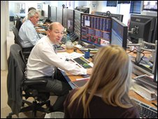 Daniel Fox-Davies in the trading room