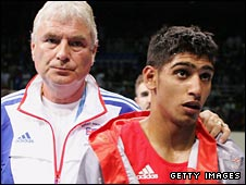 Terry Edwards and Amir Khan