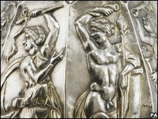 Detail from a piece of the Sevso silver