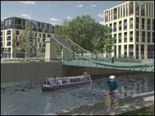 New development plans: view of Victoria Bridge