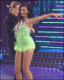 Matthew Cutler and Alesha Dixon in Strictly Come Dancing