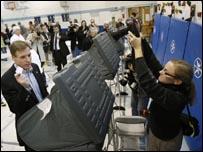 مركز اقتراع في فرجينيا