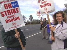 Boeing picket line