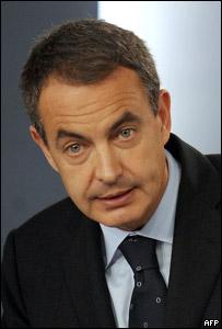 José Luis Rodríguez Zapatero, presidente de Gobierno de España.