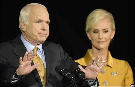 andidate John McCain concedes defeat