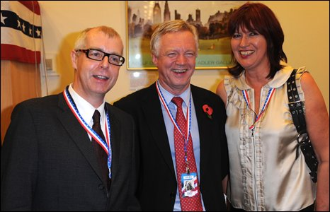 Neil Tennant, David Davis and Janet Street-Porter