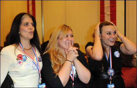 Guests at US Embassy election night party