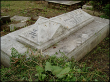 Grave in Kolkata cemetery