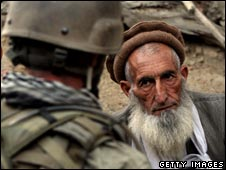Soldier and Afghan elder