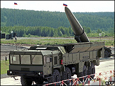 The Iskander missile system. File photo