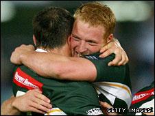 Ireland's Sean Gleeson celebrates victory