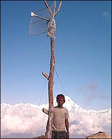 A wi-fi ariel in Nepal 