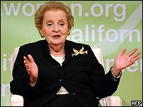 Madeleine Albright, ex secretaria de Estado de EE.UU.