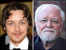 James McAvoy and Lord Attenborough