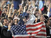 Празднование победы Обамы