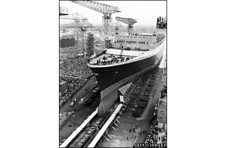 QE2 being launched on 20 September 1967