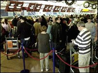 Check-in queues