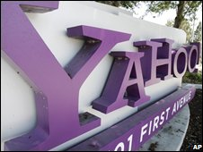 Yahoo sign, AP