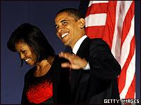 Barack Obama y su esposa Michelle.