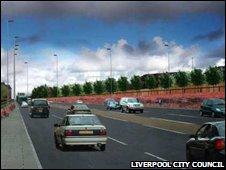 An artist's impression of the Hall Lane scheme