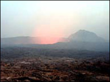 Achive picture of the Afar volcano (pictured by BBC News website reader Aaron Carson)