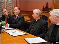 Rev Ian Ellis of the Church of Ireland, Rev Trevor Gribbon of the Presbyterian Church, Bishop Donal McKeown of the Catholic Church and Trevor Jamieson of the Methodist Church
