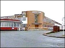 Hoover factory at Merthyr Tydfil