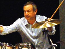 Nick Mason by Mike Eccleshall