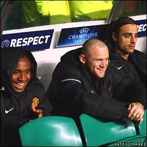Anderson, Wayne Rooney, Dimitar Berbatov