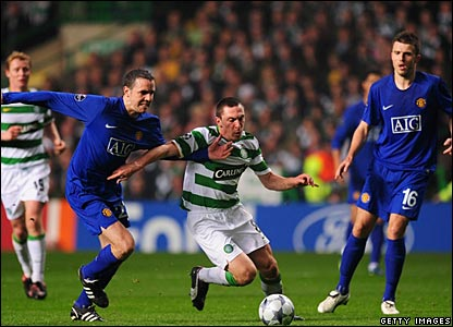 John O'Shea, Michael Carrick (Man Utd), Scott Brown (Celtic)