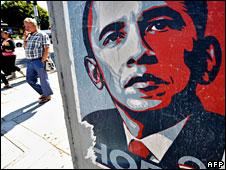 Poster of Barack Obama in Los Angeles