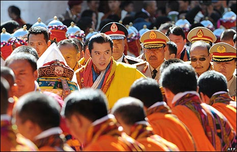 New King Jigme Singye Wangchuck at the coronation