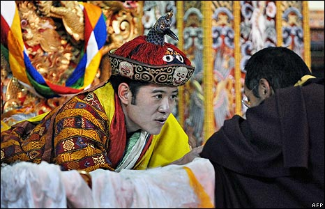 Jigme Khesar Namgyel Wangchuck after his coronation