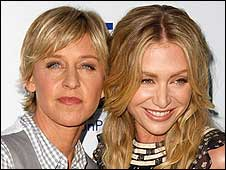 Ellen DeGeneres and Portia Rossi